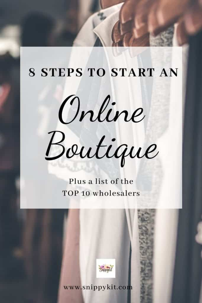 start a profitable online boutique in 8 steps