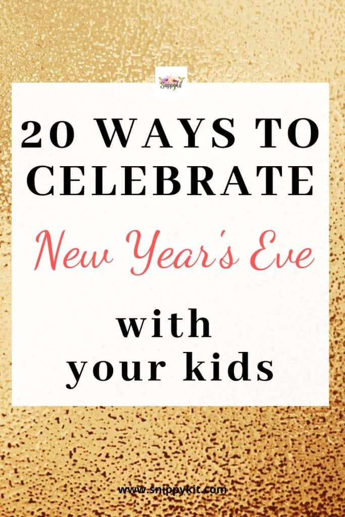 Have fun celebrating the New Year with your kids. Check out this list of 20 things to do with your kids on New Year's Eve.